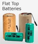 Rechargeable Flat Top Batteries