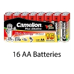 Camelion AA Alkaline Plus 16pk Shrink Pack
