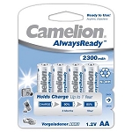 Camelion AA 2300 mAh AlwaysReady Ni-Mh Rechargeable Batteries