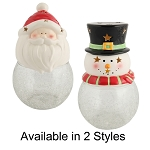 Holiday Fillable Cermaic Santa and Snowman