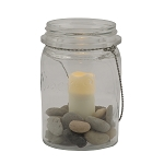 Marmalade Jar Flameless Votive Holder with Candle