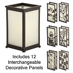 Metamorphis Flameless Candle Lantern With Interchangable Seasonal Panels