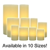 Ivory Flameless Wax Pillar Candles