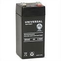 Universal Power 4 Volt 4.50 Amp AGM Sealed Lead Acid with F2 Terminal