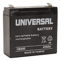 Universal Power 4 Volt 9.00 Amp AGM Sealed Lead Acid with F2 Terminal