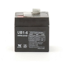 Universal Power 6 Volt 1.00 Amp AGM Sealed Lead Acid with F1 Terminal