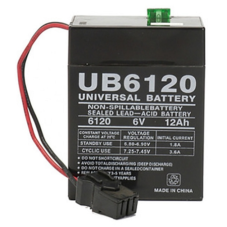 UPG 6 Volt 12 00 Amp AGM Sealed Lead Acid Battery with Fuse and A Plug
