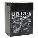 Universal Power 6 Volt 13.00 Amp AGM Sealed Lead Acid with F1 Terminal