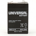 Universal Power 6 Volt 3.20 Amp AGM Sealed Lead Acid with F1 Terminal