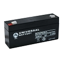 Universal Power 6 Volt 3.20 Amp Long AGM Sealed Lead Acid with F1 Terminal