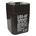 Universal Power 6 Volt 5.00 Amp AGM Sealed Lead Acid with F1 Terminal