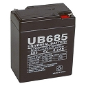 Universal Power 6 Volt 8.50 Amp AGM Sealed Lead Acid with F1 Terminal
