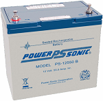 Power Sonic PS-12550 12 Volt 55Ah Internally Threaded