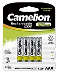 Camelion AAA Ni-Cad 300mAh Solar Light Batteries 4pk Blister