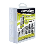 Camelion AAA Ni-Cad 300mAh Solar Light Batteries 24pk Plastic Case