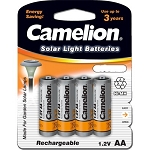 Camelion AA Ni-MH 1000mAh Solar Light Batteries 4pk Blister