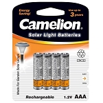 Camelion AAA Ni-MH 350mAh Solar Light Batteries 4pk Blister