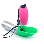 Fold-A-Bowl - Portable Pet Water Bottle and Bowl