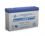 Power Sonic PS-670 6 Volt 7Ah F1 Terminal