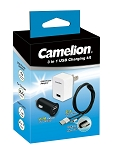 Camelion 3-in-1 USB Charging Kit - Micro USB + Lightning in one plug