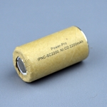 Super High Rate Ni-Cd Sub-C 2200mAh 10c Cardboard Slv. 41.6mm-L