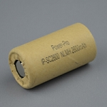 Designed for Tool Packs Ni.MH Sub-C 2600mAh-C/B slv. 41mm-L