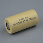 High Rate Sub C-3000mAh Ni.MH Cardboard Slv.41mm-L