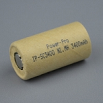 High Rate 3400mAh Sub-C Ni.MH C/B slv.41 mm L