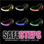 Safe Steps LED Clip On Shoe Safety Lights