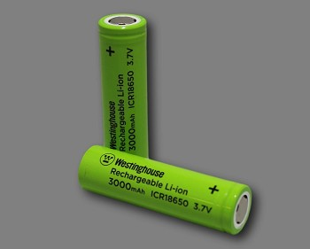 Westinghouse 18650 Li-ion 3.7V 3000mAh 2pc Shrink