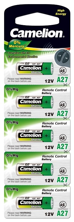 Camelion Alkaline A27 Battery 5 Pack Blister