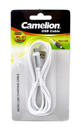 Nylon 1M  Micro USB Charging Cord Blister Pack