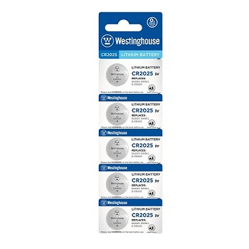 Westinghouse CR2025 3V Lithium Button Cell 5pk
