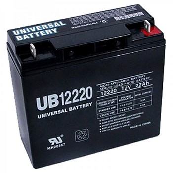 Universal Power 12 Volt 22.00 Amp AGM Sealed Lead Acid with Nut & Bolt Terminal