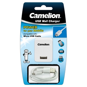 Camelion Micro USB Cable & Wall Charger Set