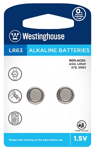 Westinghouse AG0 / 379 / LR521 1.5V Button Cell Battery