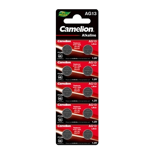Camelion AG13 Alkaline Button Cell 10 pack