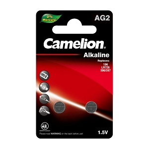 Camelion AG2 Alkaline Button Cell 2 pack