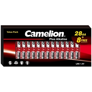 Camelion AA Alkaline Plus 36 Pack