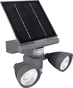 Pacific Accents Solar 2 x 5 COB Flood Light 600 Lumens