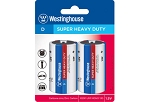 Westinghouse D Super Heavy Duty 2pk Blister